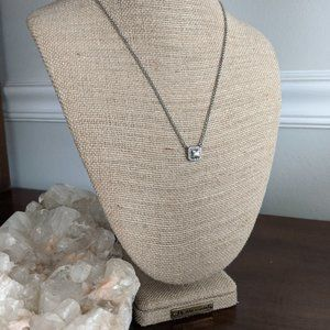 Crystal Square Pendant Necklace
